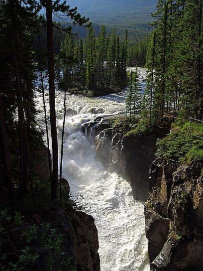 Free picture: sunwapta, falls, Jasper, national park