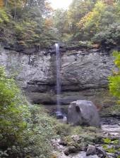 de altura, cascada, rocoso, acantilado