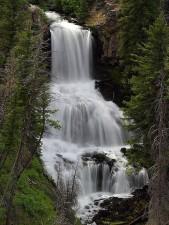 undine, waterfalls, Yellowstone
