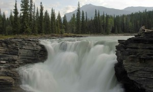 Athbascan, falls, headwaters, mountains