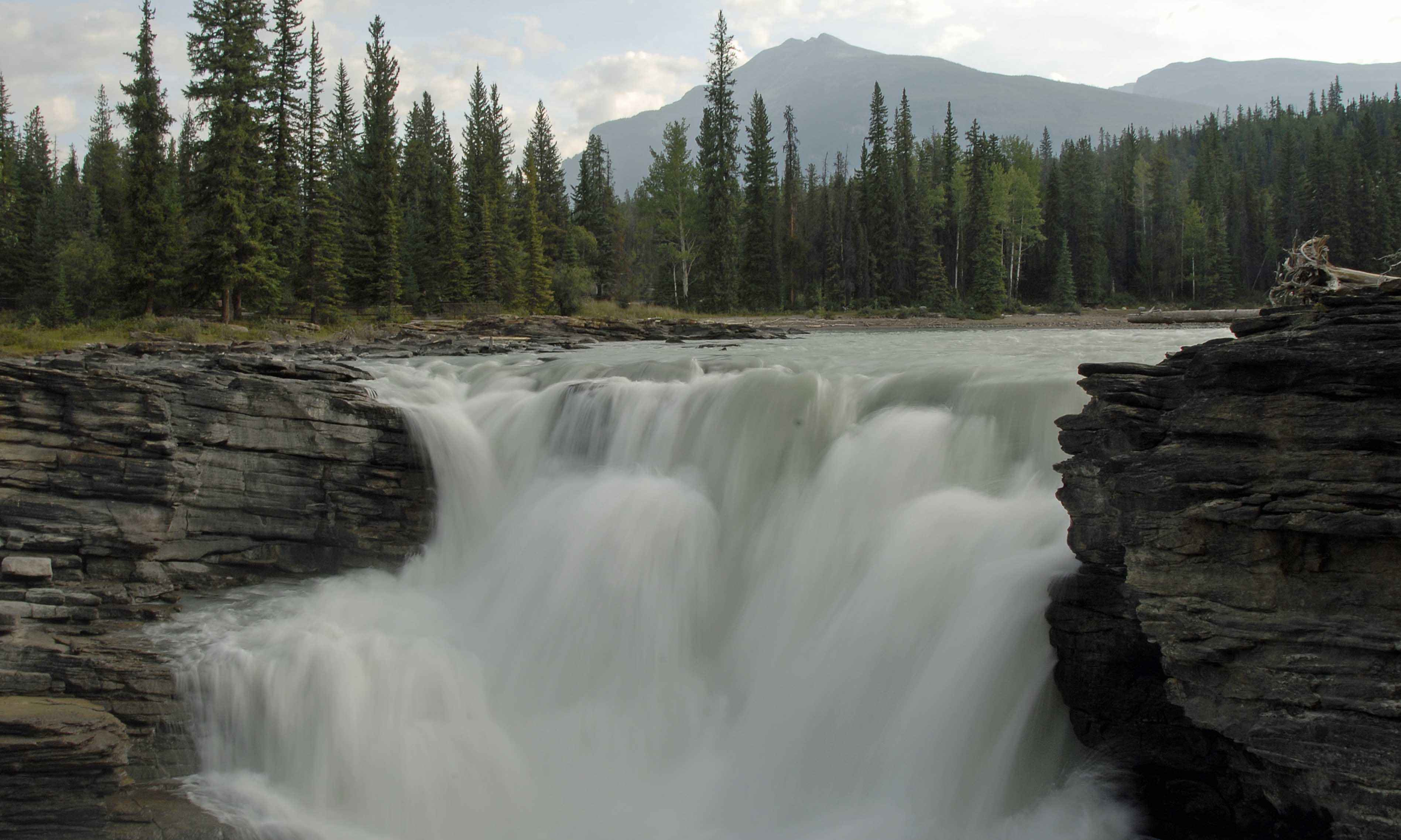 Free Picture Athbascan Falls Headwaters Mountains