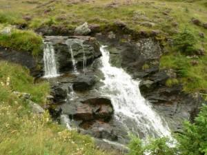 chute d'eau, petit, waterstream