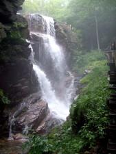 chute d'eau, forêt, rochers