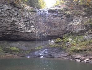 chute d'eau, rocheux, falaise, piscine, l'eau