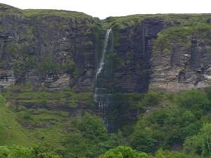 waterfalls, glecar, lough