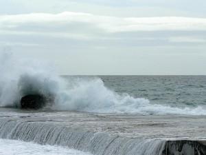 big, wave, breaking