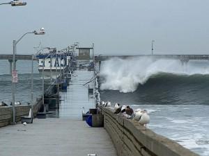 nino, waves, piers, ocean, seagulls
