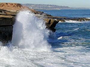 moře, vlny, voda, pobřeží