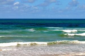 calme, vagues, plage