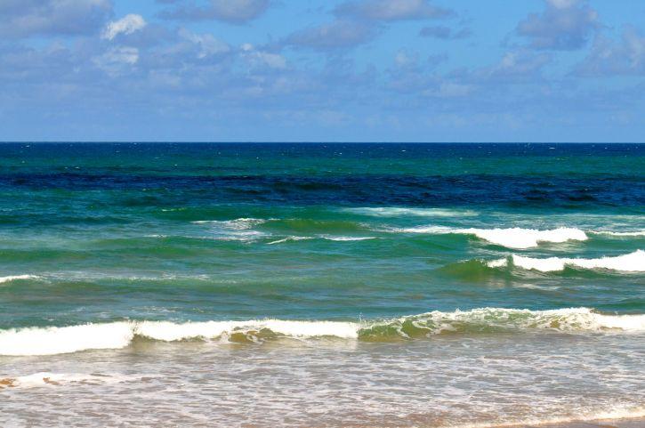 quiet, waves, beach