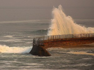 sea, waves, hit, beach