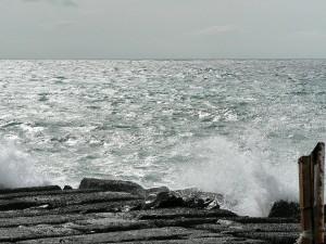 wave, breaking, ocean, beach