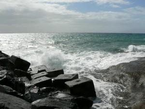 wave, hit, pier