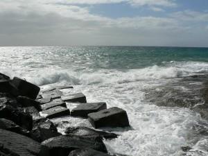 wave, coastline