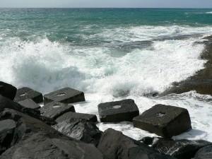 wave, pier