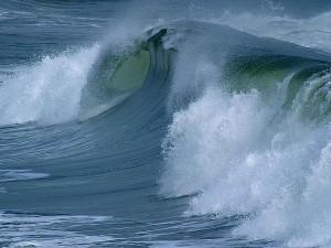 waves, ocean, beach
