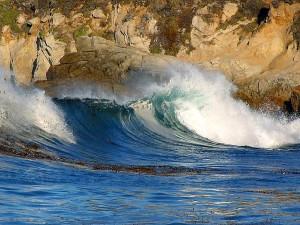 waves, landscape