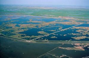 évaporation, étangs, Kesterson, désert, refuge
