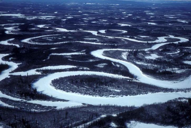 flats, frozen, wetlands