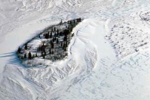 aerial, photo, snowy, fields