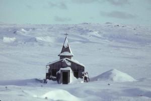 église, hiver, scénique