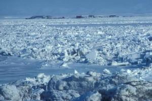 glace, village, Winer