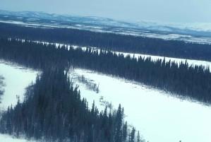 INNOKO, rivière, bassin, hiver
