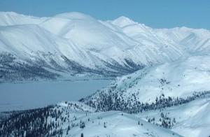 junjik, rivière, montagnes, hiver