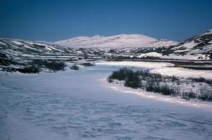 kisaralik, rivière, hiver