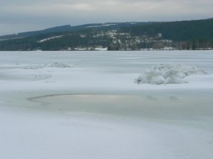 la glace fondante