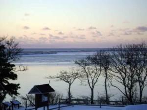 morris, île, hiver