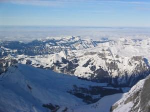 mountain, crag, winter