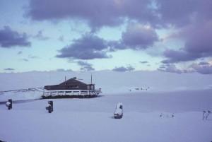pumphouse, cabine, hiver