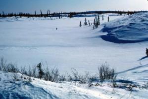 rivière, cours d'eau, hiver, rivière, couvert, glace, neige