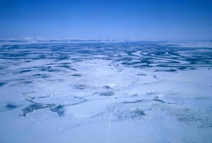 neige, glace, scénique, paysage