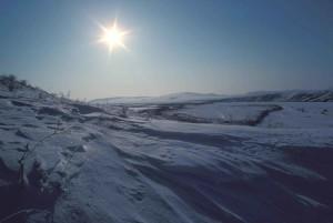 snow, scene, sun