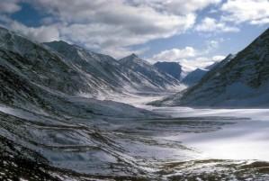 white, clouds, frozen, mountain, scenics