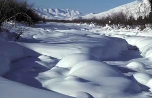 vent, rivière, hiver, scénique
