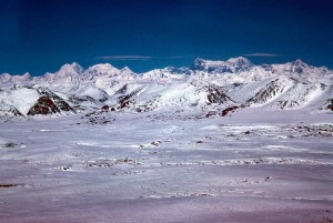 winter, mountain, range, landscape