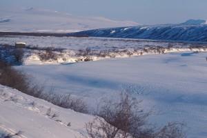 hiver, neige, scène, scénique