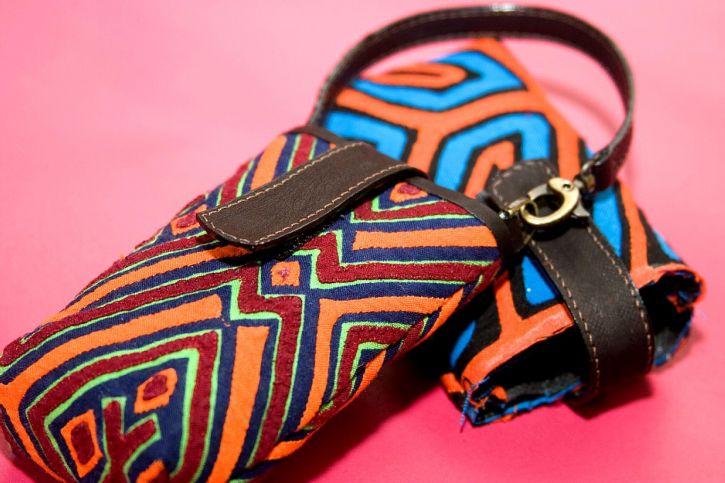 Kuna, umelecké výrobky, začleniť, pôvodných, textílie, vzory