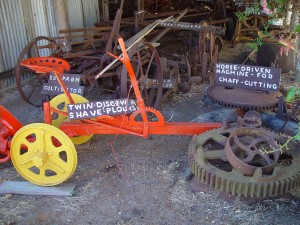 ancient, farming, machinery, mount, Barker, museum, western, Australia