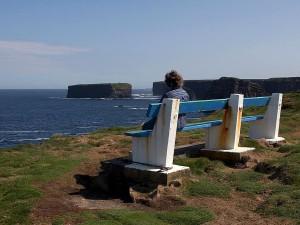 bench, sea