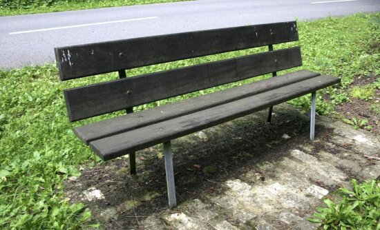 bench, park, old