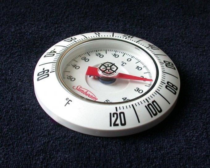 bimetallic, coil, thermometer