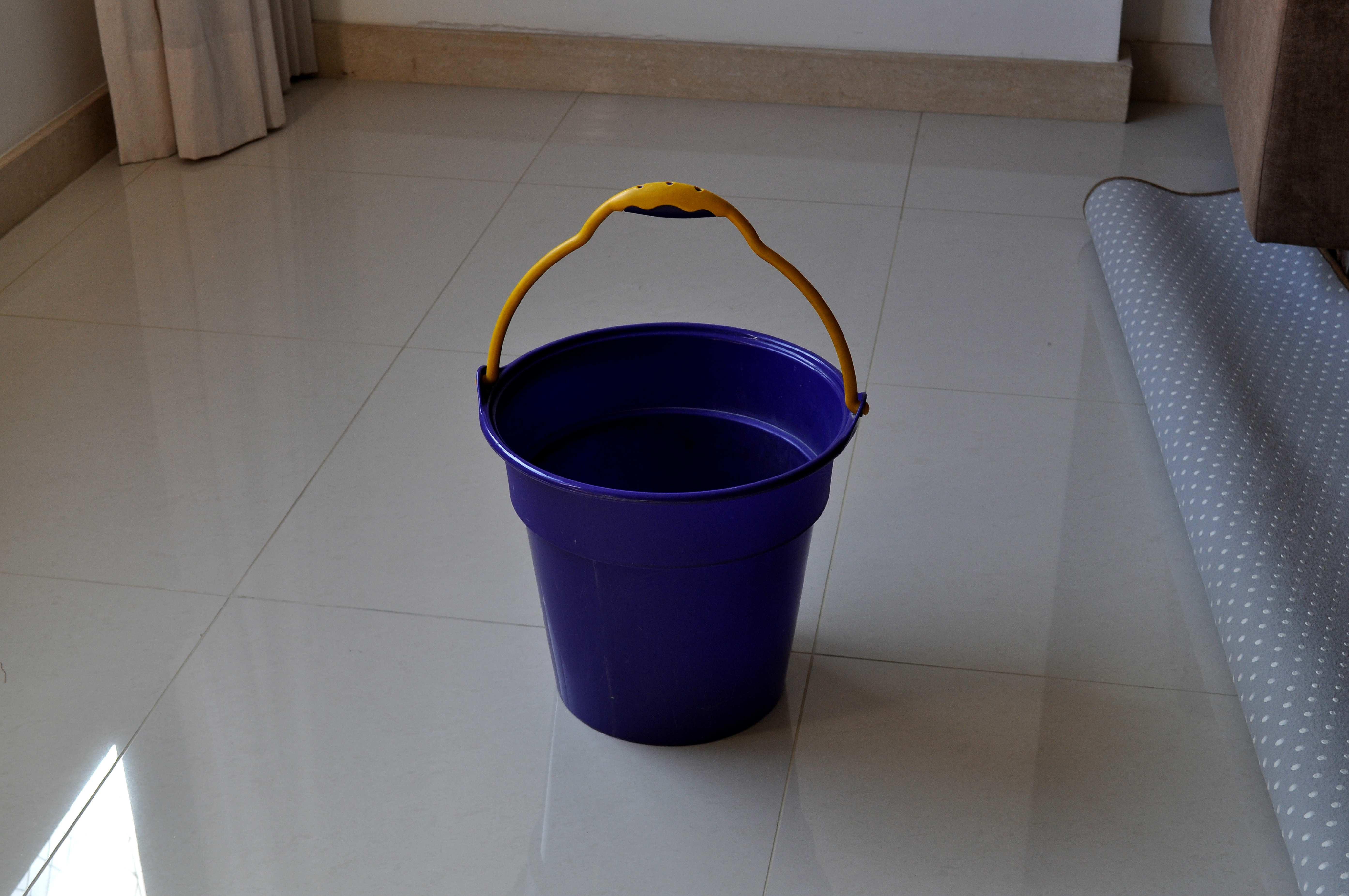 Free photograph; blue, plastic, bucket
