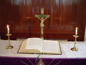 βωμός, Αγία Γραφή, Johns, λουθηρανική