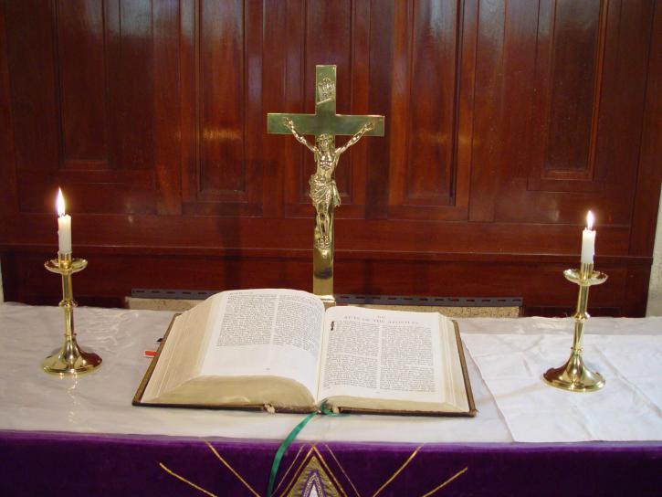altar, bible, Johns, Lutheran