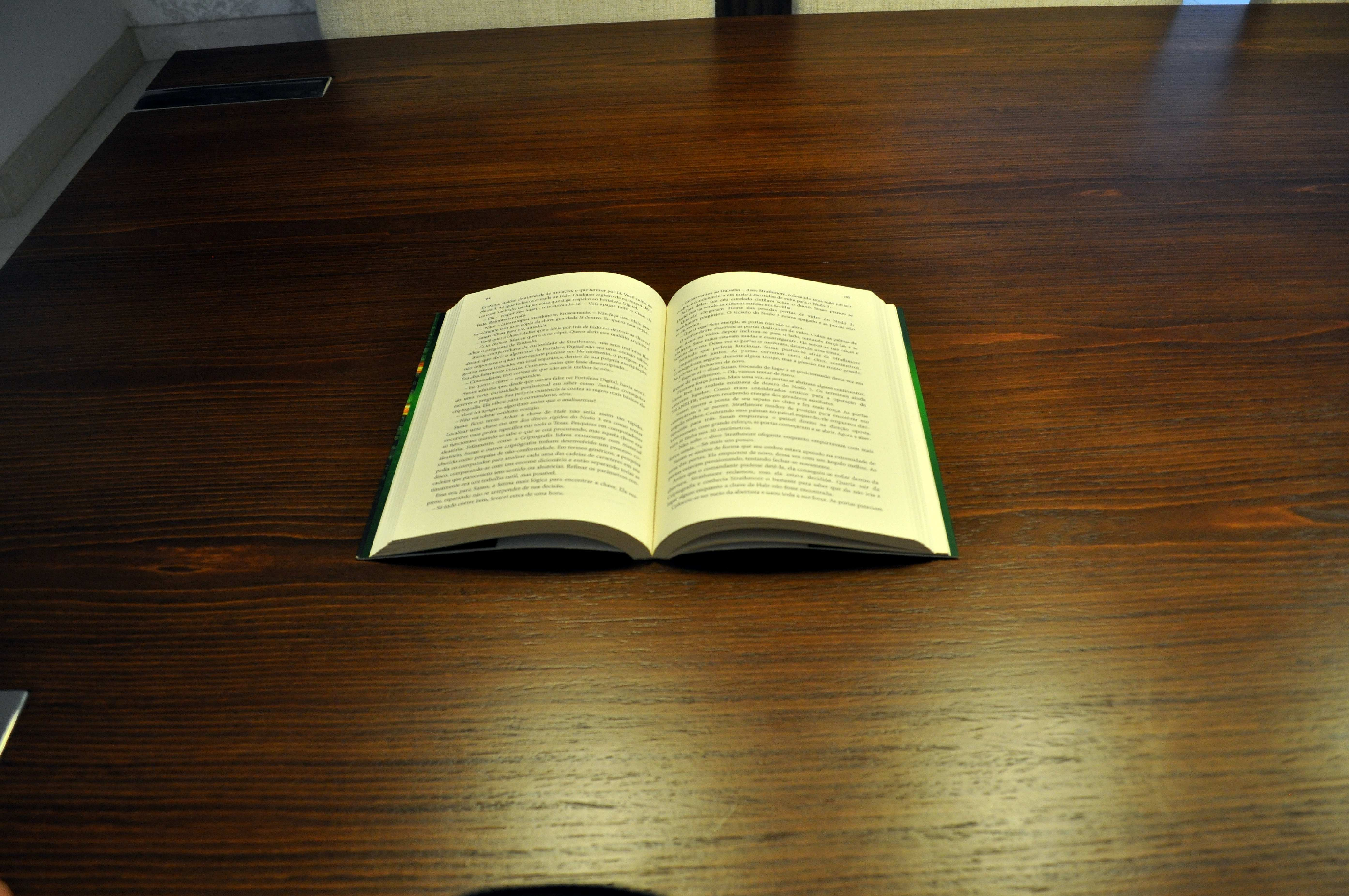 Table, Open Book, Reading