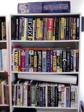 bookshelf, books